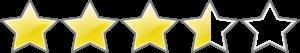 3,5 Sterne ohne Füllung